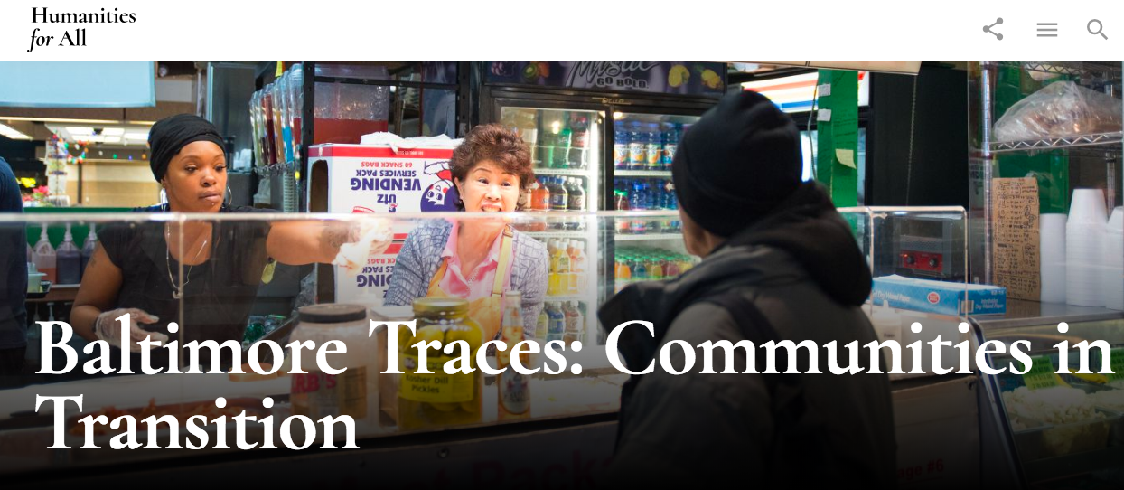 Baltimore Traces: Communities in Transition